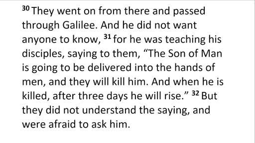 Mark 9.30-32