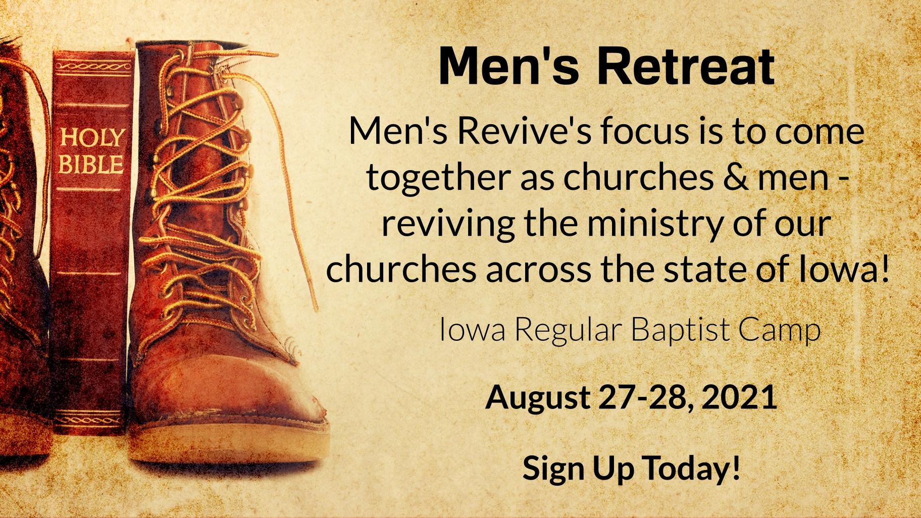 Men's Retreat at IRBC