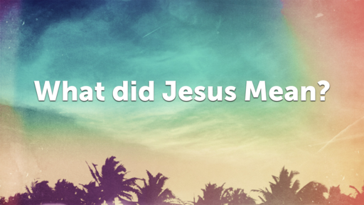 What Did Jesus Mean?