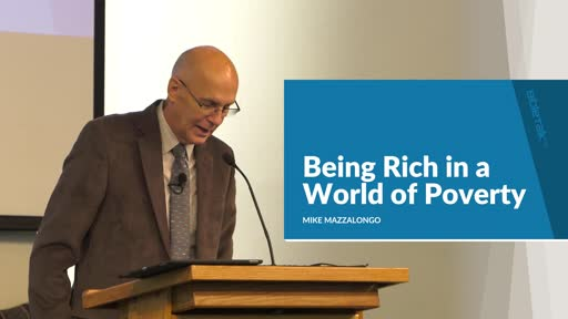 Being Rich in a World of Poverty