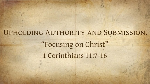 Upholding Authority and Submission.