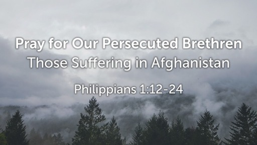 Pray for Our Persecuted Brethren