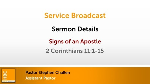 Signs of an Apostle