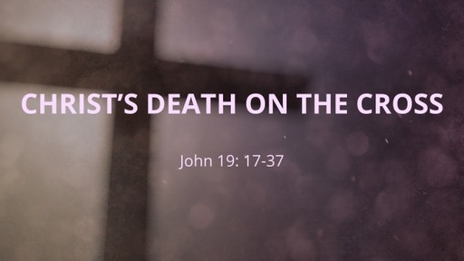 Christ's Death On The Cross