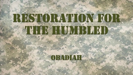 Restoration for the Humbled