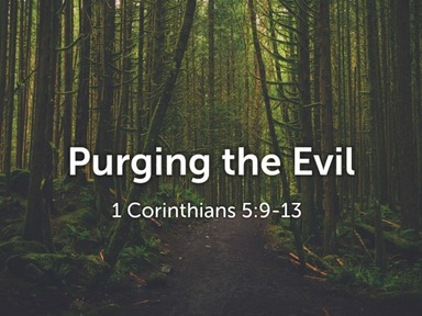Purging The Evil