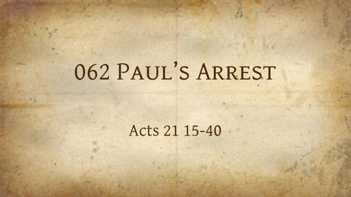 062 Paul's Arrest