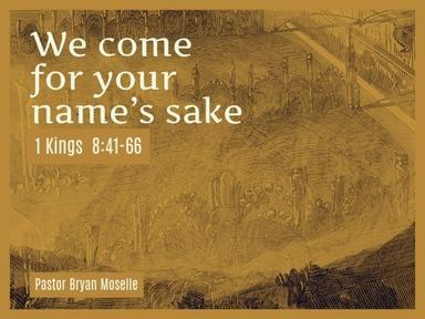 1 Kings 8:41-66