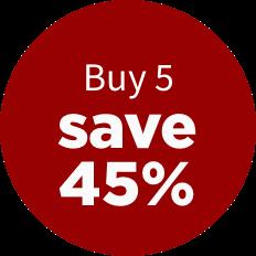 Buy 5, save 45%