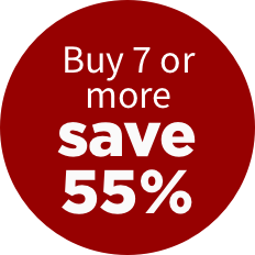 Buy 7 or more, save 55%