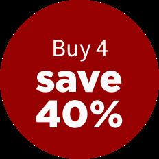 Buy 4, save 40%
