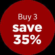 Buy 3, save 35%