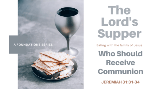 Who Should Receive Communion