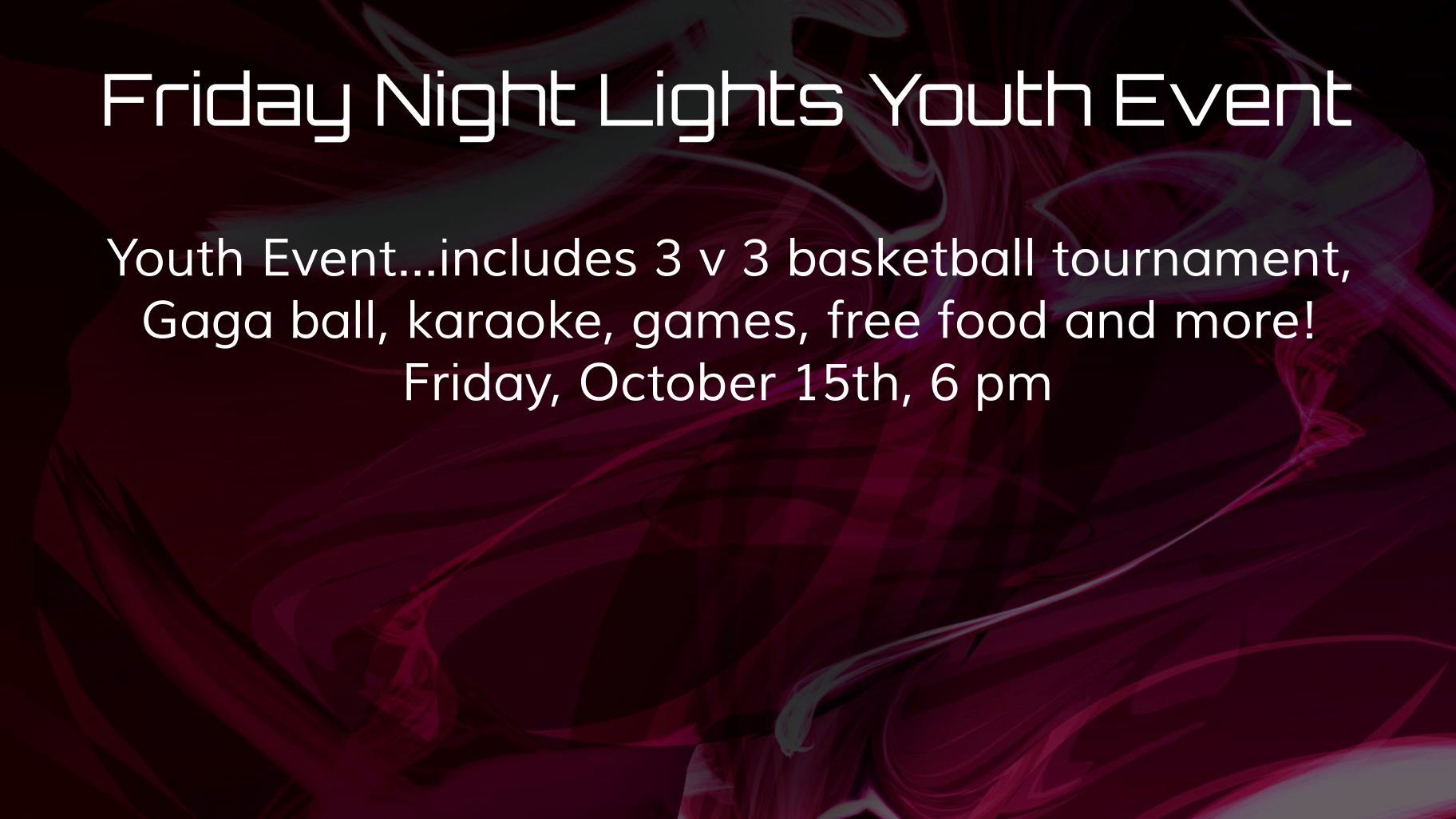 Friday Night Lights Youth Event