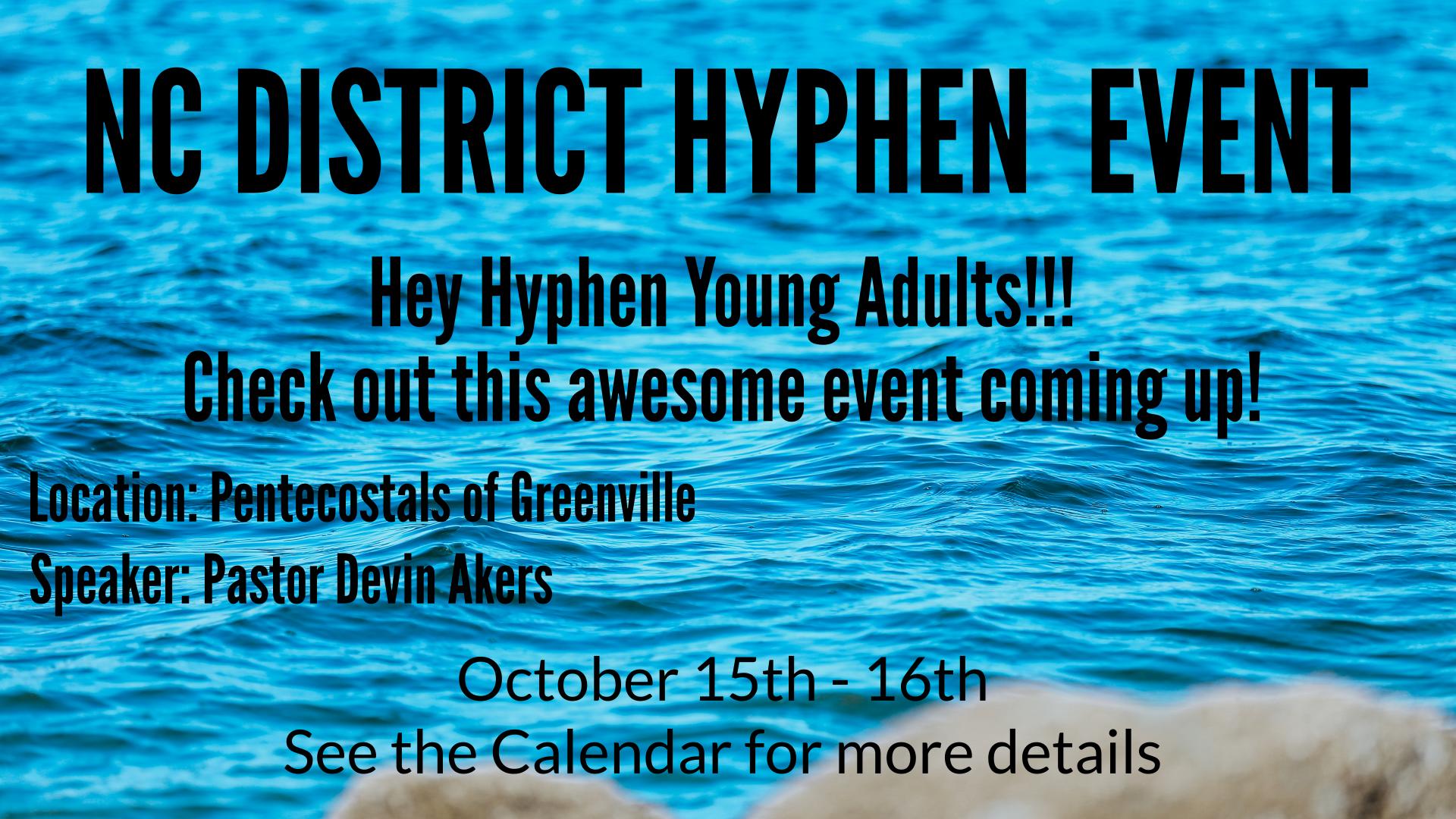 NC District Hyphen  Event