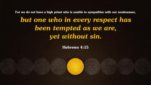 Hebrews 4:15 verse of the day image