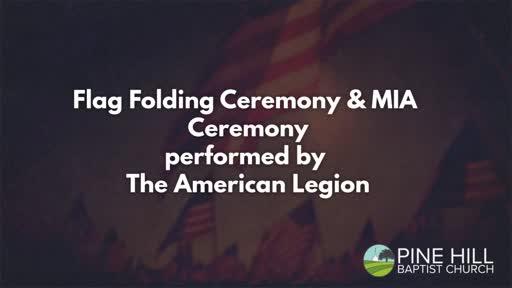 Flag Folding and MIA Ceremony - 9/25/2016