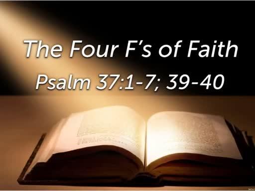 The Four F's of Faith