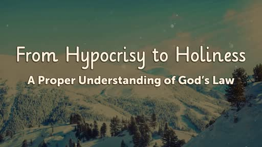 From Hypocrisy to Holiness