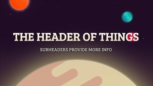 Galactic Vacation Bible School - Header Subheader Motion