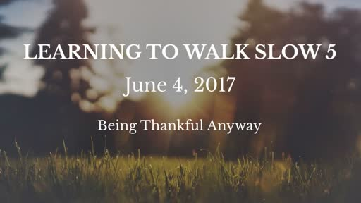 Learning to Walk Slow