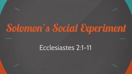 Solomon's Social Experiment