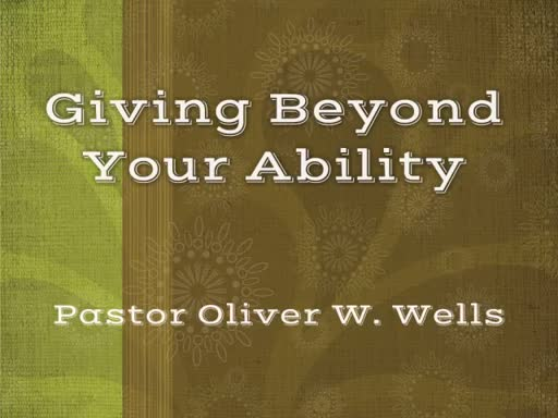 The Grace of Giving Beyond Your Ability