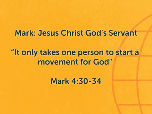 """""""It Only Takes One Person To Start a Movement for God"""""""