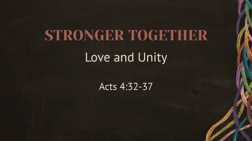 Stronger Together - Love and Unity
