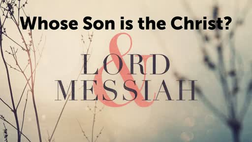 Whose Son is the Christ?