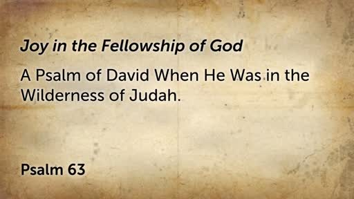 Joy in the Fellowship of God