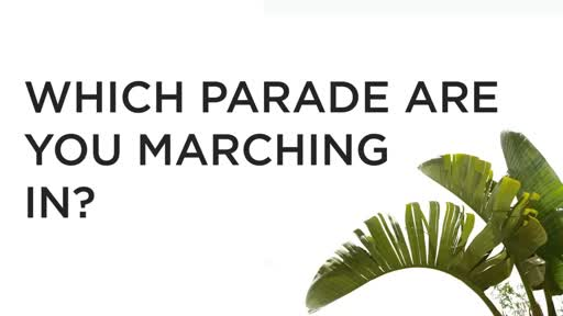 Which parade are you marching in? - 4/9/2017