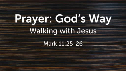 Prayer: God's Way