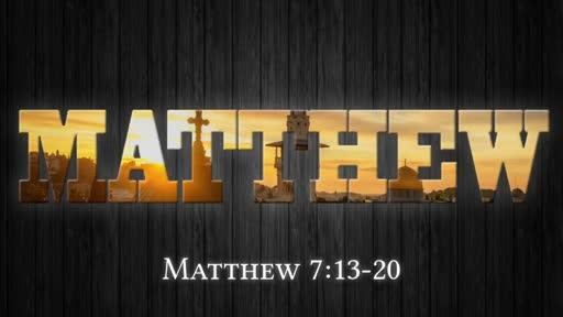 Matthew 7:13-20