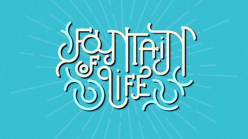 Fountain of Life - Typographic large preview