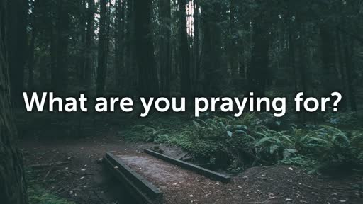 What are you praying for? - 9/18/2016