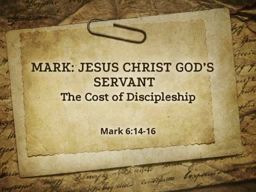 Oct 9  The Cost of Discipleship