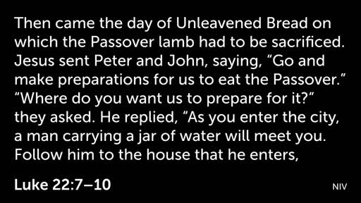 Preparation for the Passover