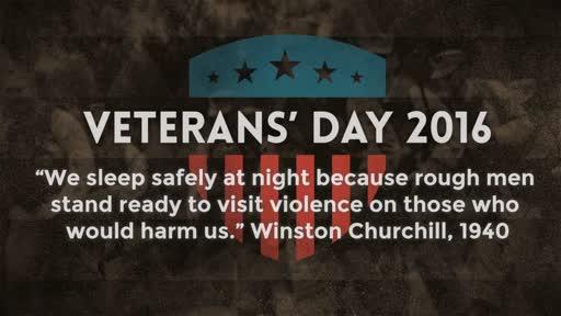 Veterans' Day 2016 - 11/13/2016