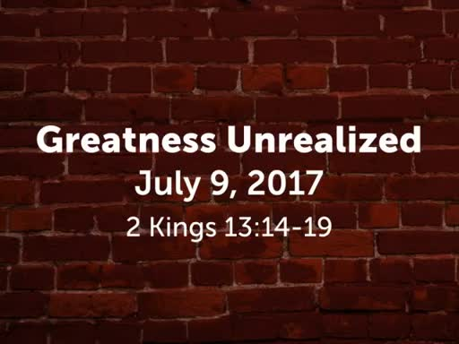 Greatness Unrealized