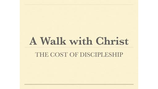 The Cost of Discipleship and Yearly IVCC Meeting