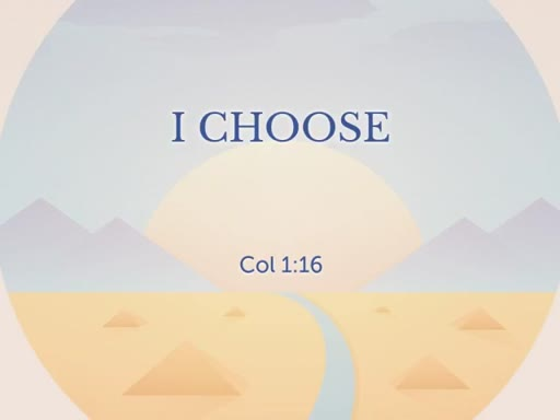 I Choose - Important Over The Urgent!