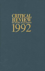 Critical Review of Books in Religion 1992