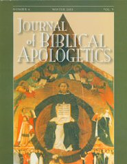 The Journal of Biblical Apologetics, vol. 9 part 1: Natural Theology: Its Origin, Nature and History
