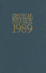 Critical Review of Books in Religion 1989