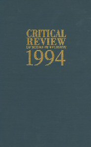 Critical Review of Books in Religion 1994