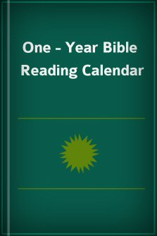 One-Year Bible Reading Calendar