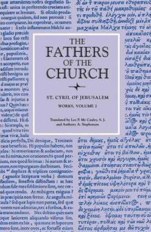 The Works of Saint Cyril of Jerusalem, vol. 2