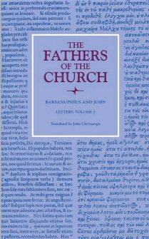 Barsanuphius and John: Letters, vol. 1
