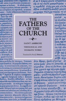 Saint Ambrose: Theological and Dogmatic Works
